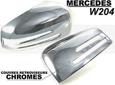 MERCEDES W204 CLASSE C 2011-14 ENJOLIVEURS CHROME CACHES COQUES RETROVISEURS AMG