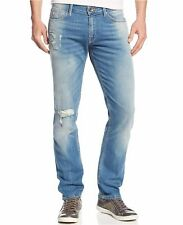 GUESS JEANS New Men's sz 32 GUESS Slim Straight Jeans in Valley View Wash