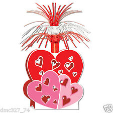 """1 VALENTINE'S DAY Party Decoration VALENTINE HEARTS Table top CENTERPIECE 15"""""""
