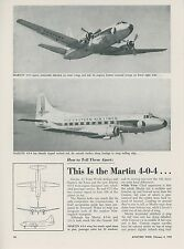 1952 Aviation Article Martin 4-0-4 vs. Convair 340 Commercial Airplanes