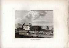 ANTIQUE IRISH PRINT - NEW TOWN CASTLE, COUNTY SLIGO -  COPPERPLATE (1792)