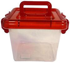 14x13cm baignoire en plastique avec couvercle / poignée pour le stockage-Petite boîte de stockage (ltubm)