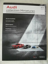 Audi collection Miniaturen - Prospekt Brochure 01.2016