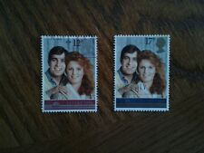 Complete used GB stamp set - 1986 British Royal Wedding (Prince Andrew)