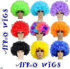 80s CURLY AFRO WIG MULTI COLOUR PARTY CLOWN FUNKY DISCO MENS LADIES FANCY DRESS