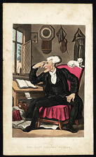 Antique Print-DR. SYNTAX-REVEREND-CLERGY-CAT-Rowlandson-Combe-1812