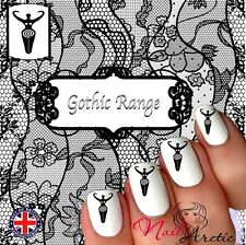 Goddess Moon Wicca Witch Goth Nail Art Sticker Water Decals Transfer Stickers