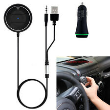 Wireless Bluetooth Hands-Free Car Kit NFC Phone Call Receiver + Dual USB Charger