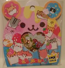 Crux Hamu Hamster Kawaii Stickers Sack sticker flakes stationery penpals