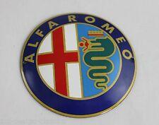 ALFA ROMEO - Werkstattschild - Schild  - Ø 12cm  - Emailschild - Türschild