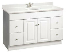 "Design House Wyndham 48"" White RTA Bathroom Vanity 4 Drawer Cabinet Only"