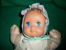 """RARE Vintage MAGIC NURSERY BABY DOLL Blue Eyed Girl Signed From Greece 13"""" Long"""