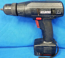 """Craftsman 973.114120 Cordless Drill 7.2V Black 3/8"""" NOT TESTED AS IS Vintage Old"""