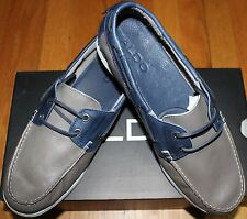 $110 ALDO RICKERD GREY SOFT LEATHER BOAT SHOES SZ EU41/ US 8
