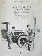 1924 Dodge Brothers Type B Sedan Car Girl Snow Skiis  William Meade Prince Ad