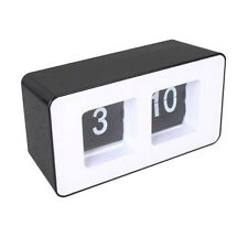 Desktop Retro Flip Clock -Black ABS Material Quality
