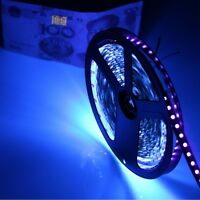 1m DC12V 5050 UV Ultraviolet purple waterproof 60led tape Strip lamp black light