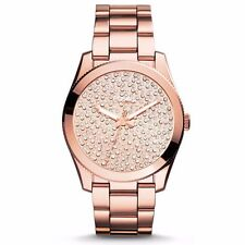 Fossil ES3690 Perfect Boyfriend Rose Gold Crystals Stainless Steel  New Box