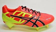 SAMPLE Asics GEL-LETHAL SPEED Men's Orange RUGBY CLEATS Size 9M MSRP $200 K976D