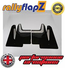 rallyflapZ SUBARU FORESTER STi (04-08) 2nd Gen Mud Flaps Black Plain 4mm PVC