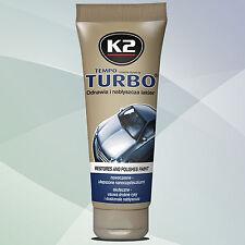 K2 TURBO PROFESSIONALE RIMUOVI GRAFFI PASTA ABRASIVA AUTO VERNICE CON CERE new