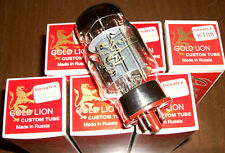 Matched Sextet (6 tubes) Genalex Gold Lion KT88 tubes, Reissue, NEW