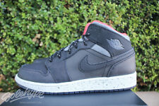 NIKE AIR JORDAN 1 MID GS BOYS SZ 7 Y BLACK GREY BONE INFRARED 816705 035