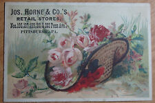 1800'S VICTORIAN TRADE CARD JOS HORNE & CO'S RETAIL STORE PENN AVE PITTSBURG PA
