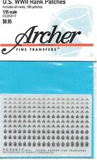 Archer U.S. WWII Rank Uniform Patches Transfer Decals FG35017