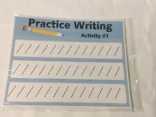 Beginners Writing Practice  Sheet - 10 Laminated Activity Cards - 8.5x11