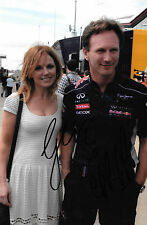 Christian Horner & Geri Halliwell SIGNED  Portrait ,Red Bull Team Principal 2015