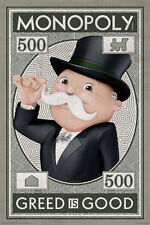 MONOPOLY - GREED IS GOOD POSTER - 24x36 GAME MONEY 241258