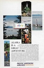 PNA PACIFIC NORTHERN AIRLINES 1964 ALASKA IS A GREAT ADVENTURE BY B720 JET AD
