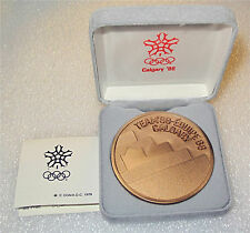 1988 CALGARY WINTER OLYMPIC GAMES OFFICIAL PARTICIPATION BRONZE MEDAL COA