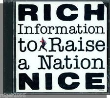 Rich Nice - Information to Raise a Nation - New 1990 Rap CD!