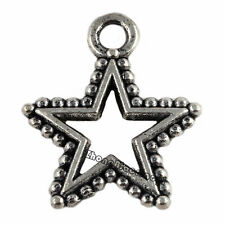 30Pcs Tibetan Silver Star Charms Pendants Jewelry Findings Crafts 17x14.5mm