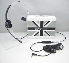 MET06 Mono Headset for Alcatel 4028 4029 4038 4039 4068 & Phone with 3.5mm jack