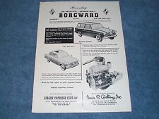 "1957 Vintage Borgward ""TS"" Sunroof and Station Wagon Ad ""The Car For You!"""