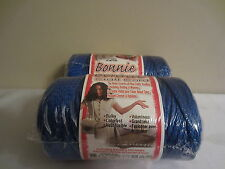 Lot of 2 rolls of Royal Blue 4mm Bonnie Braid Braided Macrame Craft Cord 200yds