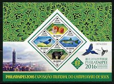 SAO TOME 2016 PHILATAIPEI WORLD STAMP CHAMPIONSHIP EXHIBITION SHEET  MINT NH