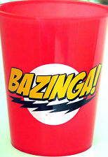 The Big Bang Theory ~  Bazinga ~ 16oz ~ Red Plastic Cups ~ 4 Pk ~ NEW