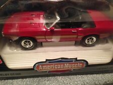 1:18 Ertl American Muscle Ford Red 1969 Shelby GT500 GT 500  Mustang Convertible