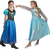 Girls Disney FROZEN Elsa or Anna Princess Fancy Dress Costume Outfit 3-14 years