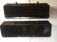 Black 351c V8 Fabricated Black Alloy Valve Covers SBC Chevy 350 F2