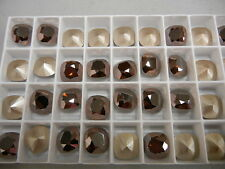 6 swarovski fancy stones,12mm special crystal mahogany/foiled #4470