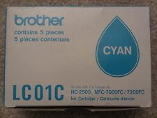☀️ 5-Pack GENUINE NEW BROTHER LC01C Cyan Ink Cartridge Tank HC-2500 - EXPIRED