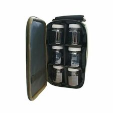 CARP FISHING GLUG CASE Bag carryall WITH 6 bait pop ups tubs Pots