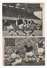 ALEX YOUNG HEARTS BILLY McCULLOUGH ARSENAL GERRY BAKER RARE ORIG SIGNED MAG PIC