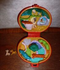 RARE Disney Lion King polly pocket mini playset with figures Sima Nala vintage