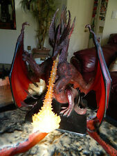 Colossal Red Dragon. with Fire. Dungeons & Dragons Pathfinder D&D minis RPG